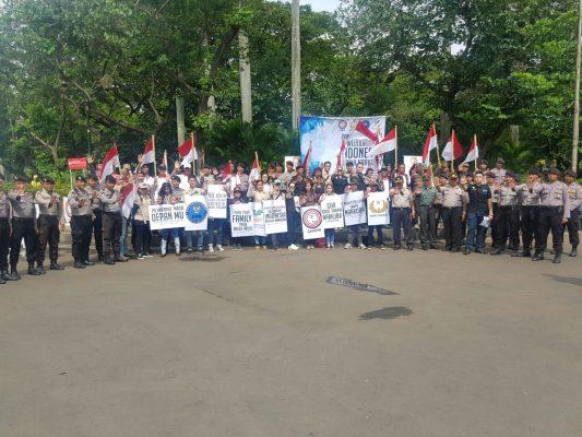 Aksi Damai dan Bersatu Wujudkan Indonesia Bersinar