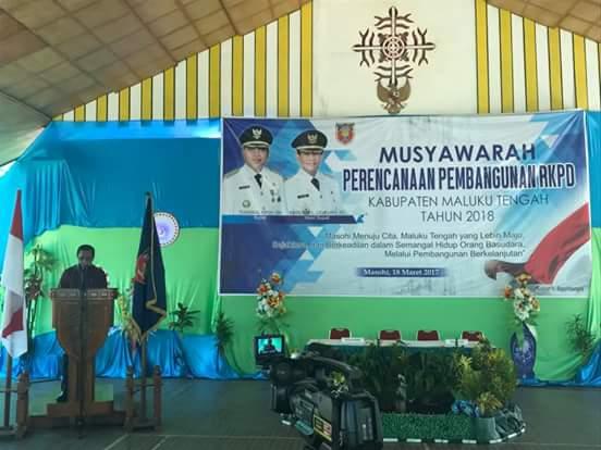Bupati Buka Musrembang RKPD Kabupaten Maluku Tengah