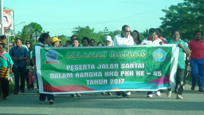 TP PKK Kabupaten Sorong Selatan  Gelar Jalan Santai