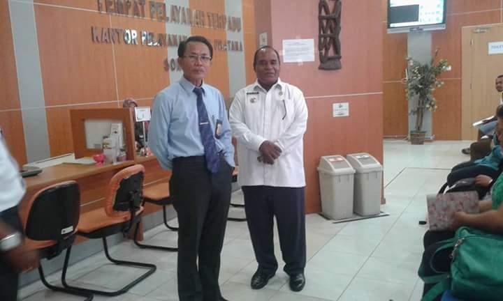 Walikota Sorong Lakukan Kunjungan ke Kantor KPP Pratama