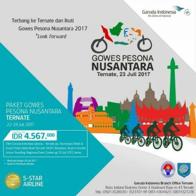 "Garuda Indonesia; ""Gowes Pesona Nusantara"""