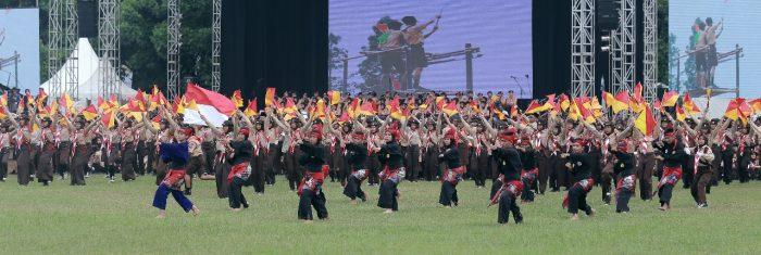 Formasi Logo Raimuna Nasional Raksasa akan Dibentuk 15.000 Pramuka