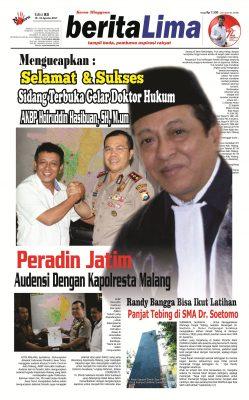 Beritalima Ucapkan Selamat Kepada Doktor Hukum AKBP Hairuddin Hasibuan, SH, M.Hum