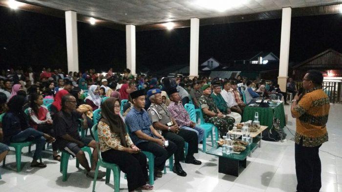 Koramil 0902/01 Kecamatan Segah Adakan Nobar Pemuataran Film G30S/PKI