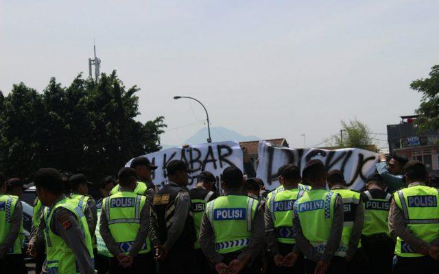 Monumen Perjuangan, BEM SI Jawa Barat Dijaga Ketat Aparat