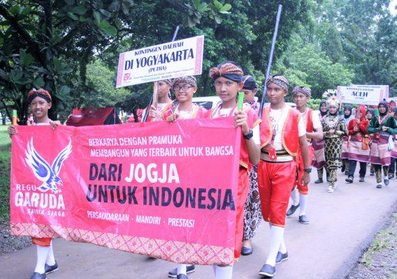 Gelar Lomba Karnaval Budaya, Pramuka Buktikan sebagai Perekat NKRI