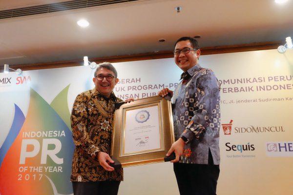 Direktur Utama Telkom Dinobatkan sebagai Spoke Person of the Year 2017