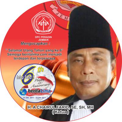 DPC PERADIN Jember Ucapkan Anniversary beritalima yang ke 6 Th