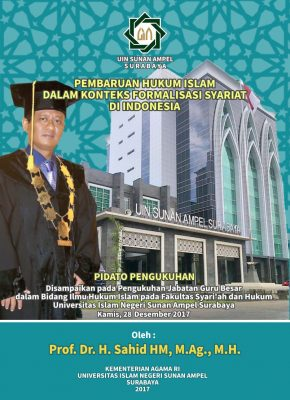 Beritalima : Selamat Atas Pengukuhan Guru Besar Prof. Dr. H. Sahid HM, M.Ag., M.H