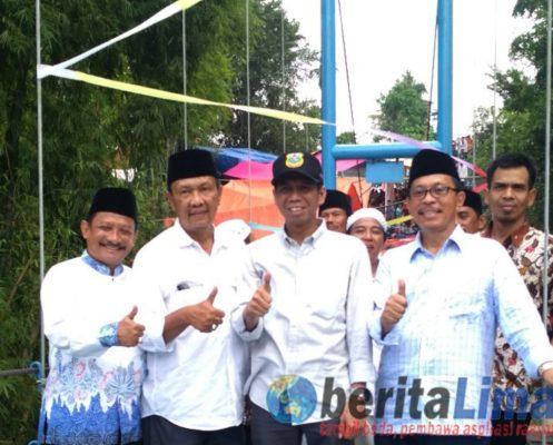 Bupati Resmikan Jembatan Gantung Penghubung 2 Kabupaten