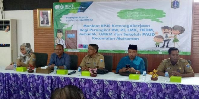 BPJS Ketenagakerjaan Rawamangun Mantab, Lindungi RT-RW Se-DKI