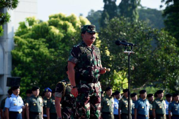 Panglima TNI Pimpin Apel Khusus Awal Tahun 2018