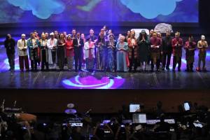 Presiden Jokowi Saksikan Pagelaran Teater Kebangsaan Satyam Eva Jayate