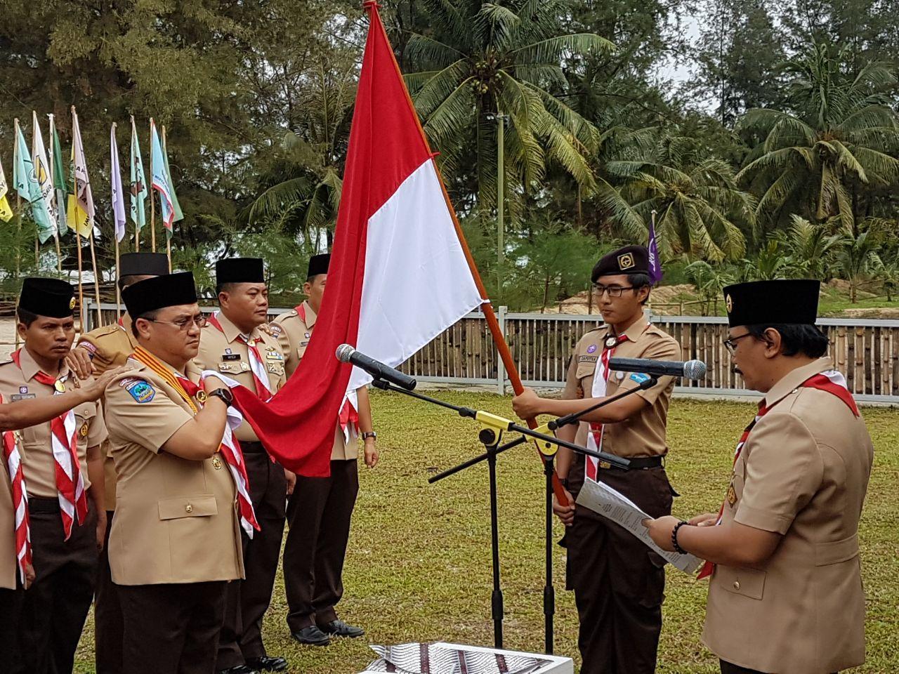 Adhyaksa Dault Lantik Gubernur Kepulauan Bangka Belitung Jadi Ketua Mabida Gerakan Pramuka