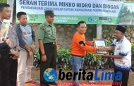Wabup Serahkan Bantuan Mikrohidro dan Biogas Kedesa Binaan SMA 1 Situbondo