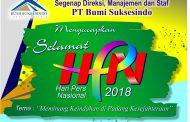 Segenap Direksi, Manajemen dan Staf PT Bumi SuksesIndo, Mengucapkan Selamat Hari Pers Nasional 2018