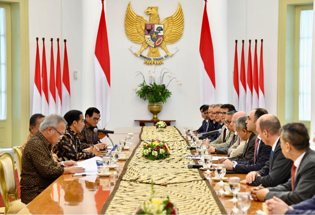 Presiden Menerima Kunjungan Kehormatan Delegasi AIIB