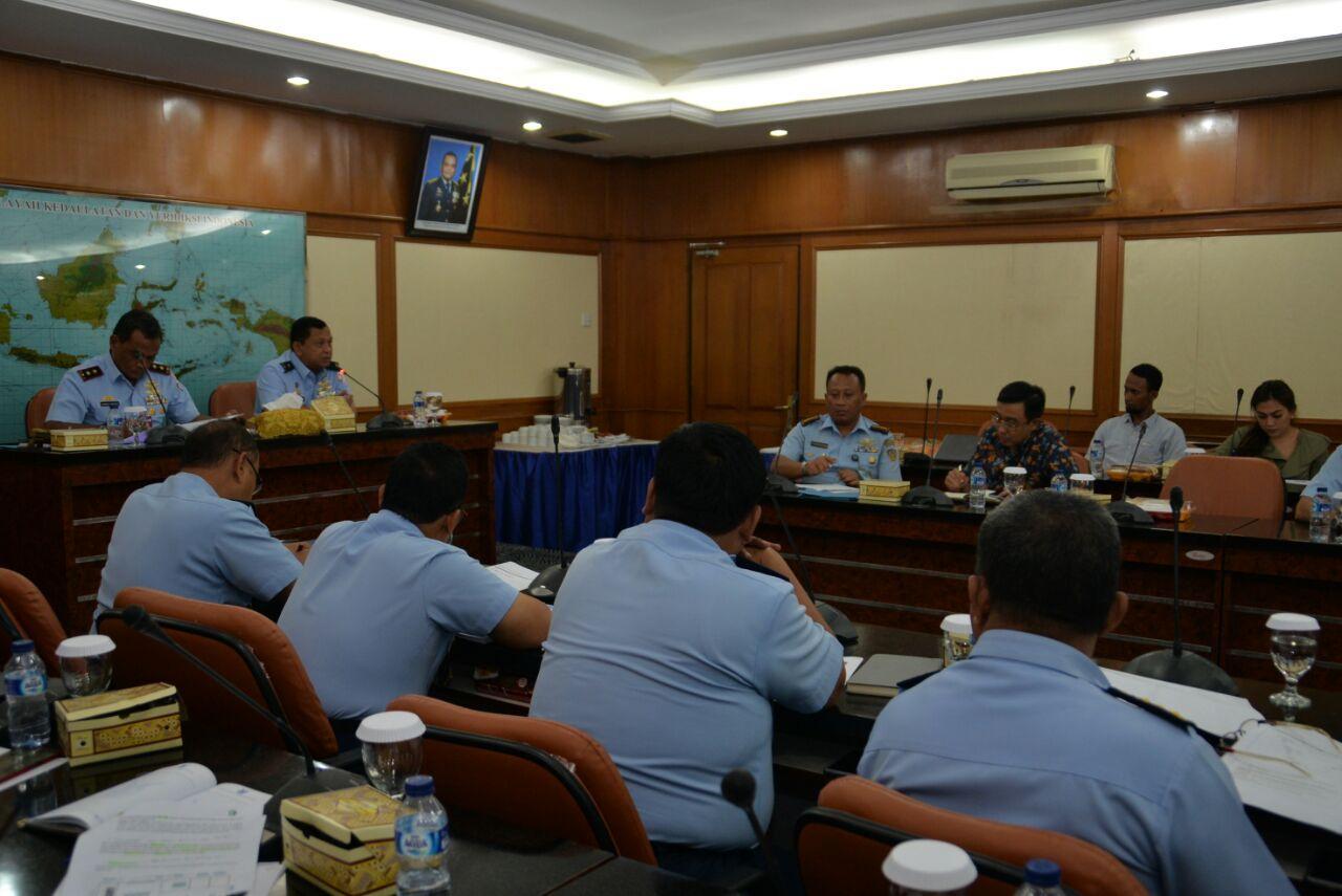 Pangkoopsau I Terima Paparan Tentang SIMTe TNI AU Bidang Logistik