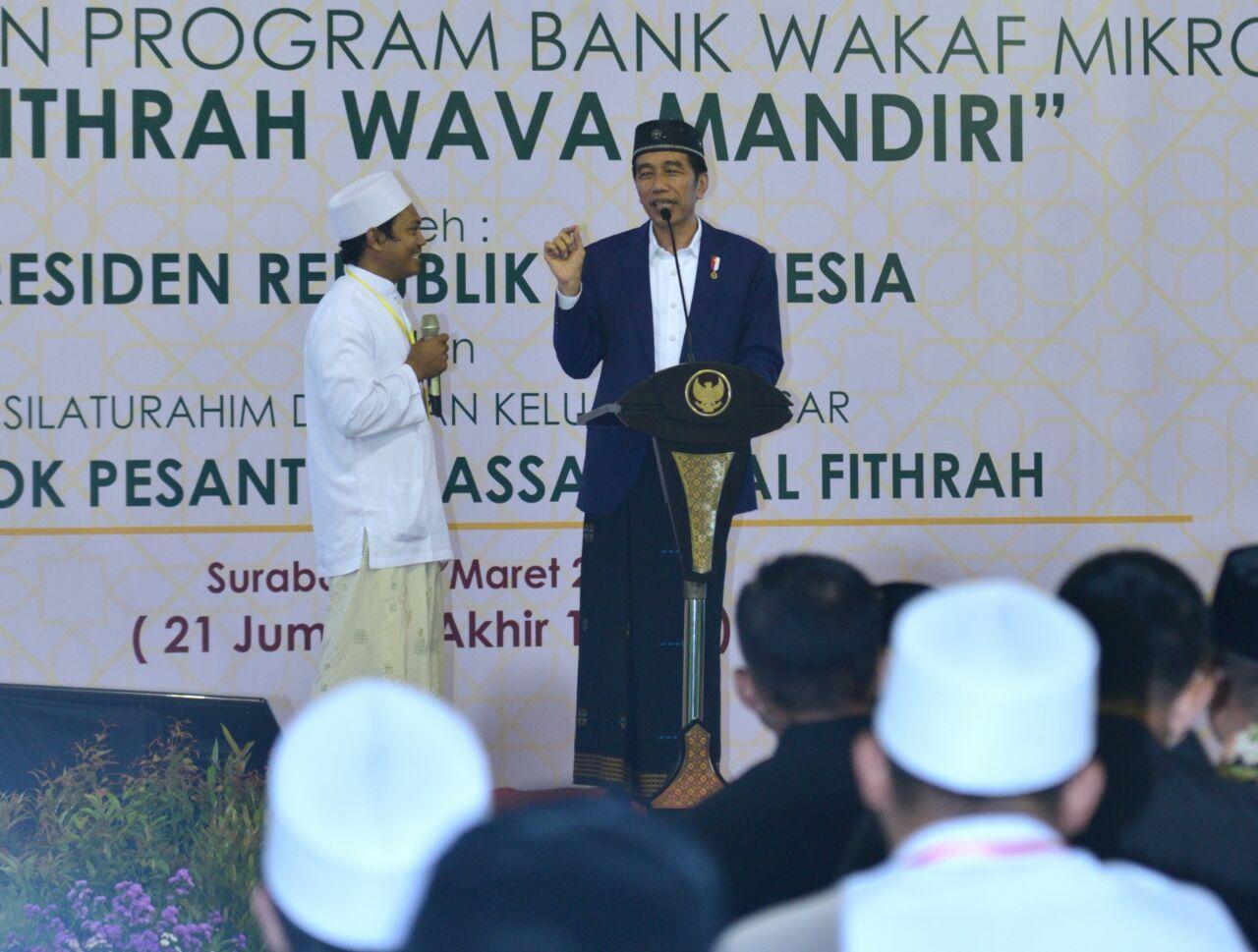 Luncurkan Bank Wakaf, Presiden: Kalau Pinjam Hanya Dikenakan Biaya Administrasi 3 Persen