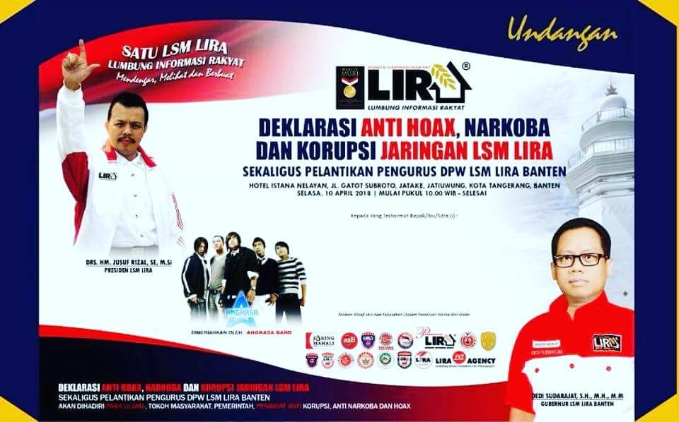 Angkasa Band Meriahkan Deklarsi Indonesia Tanp HOAX LSM LIRA Di Banten