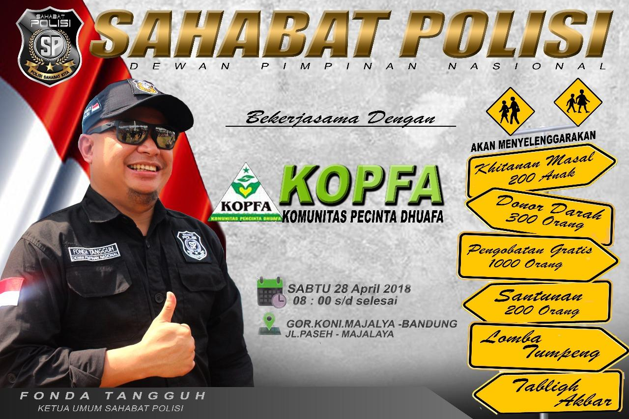 Sahabat Polisi dan KOPFA Akan Gelar Bela Dhuafa di Bandung