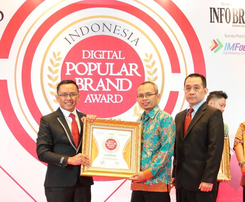 Tata Motors Raih Indonesia Digital Popular Brand Award 2018