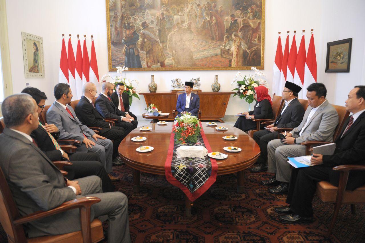 Presiden Menerima Kunjungan Kehormatan Pangeran Bahrain