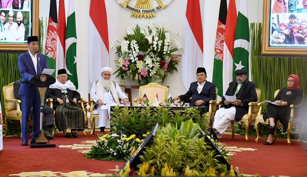 Presiden Sebut Indonesia Berkomitmen Wujudkan Perdamaian di Afghanistan