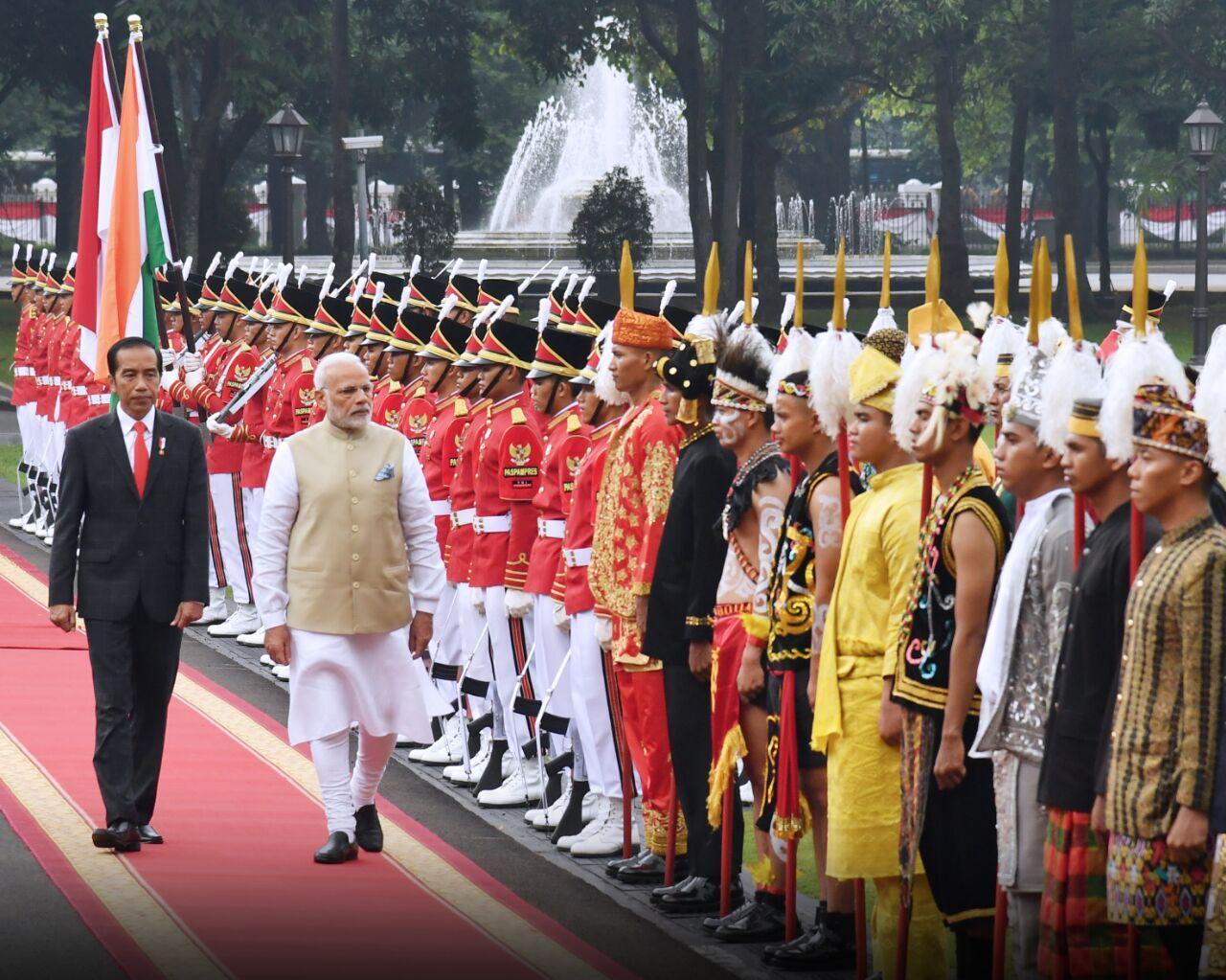 Presiden Jokowi Sambut PM India dengan Ucapara Kenegaraan