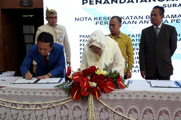HUT Surabaya, 15 Kabupaten dan Kota Lakukan MoU Bersama Pemk
