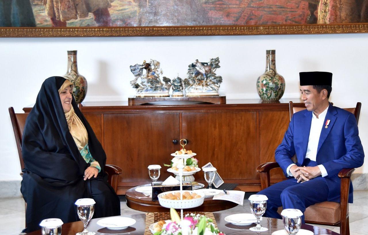 Presiden Jokowi Menerima Kunjungan Kehormatan Wapres Iran