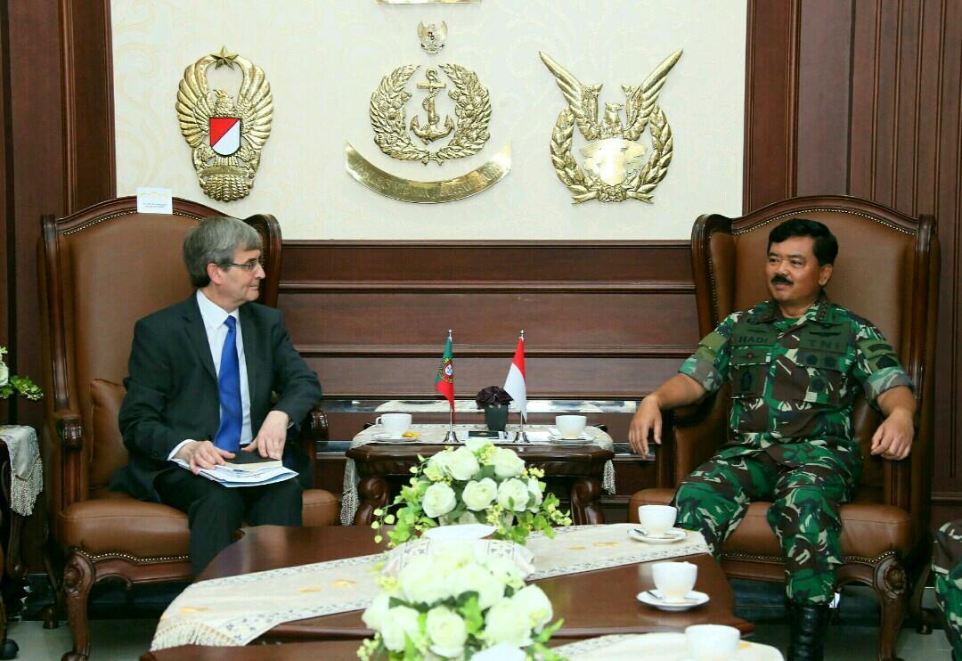 Panglima TNI Terima Kunjungan Kehormatan Dubes Portugal