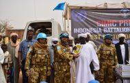 Satgas Yon Komposit TNI Konga XXXV-D UNAMID berikan Bantuan Bagi Warga Desa