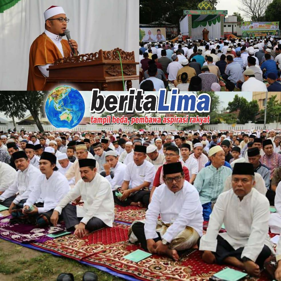Ribuan Jemaah Padati Shalat Ied Di Lapangan Ika Bina