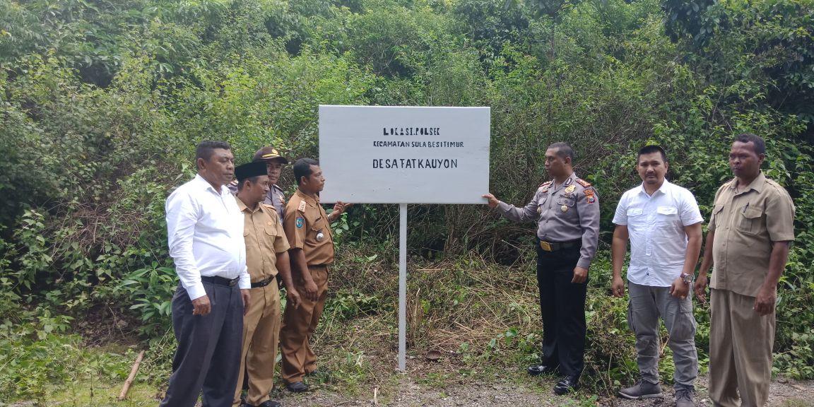 Hut Bayangkara Ke – 72. Kapolres Sula Tinjau Lokasi Bakal Pembangunan Polsek Sulabesi Timur