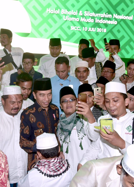 Presiden Silaturahmi dengan Ribuan Ulama Muda di Sentul