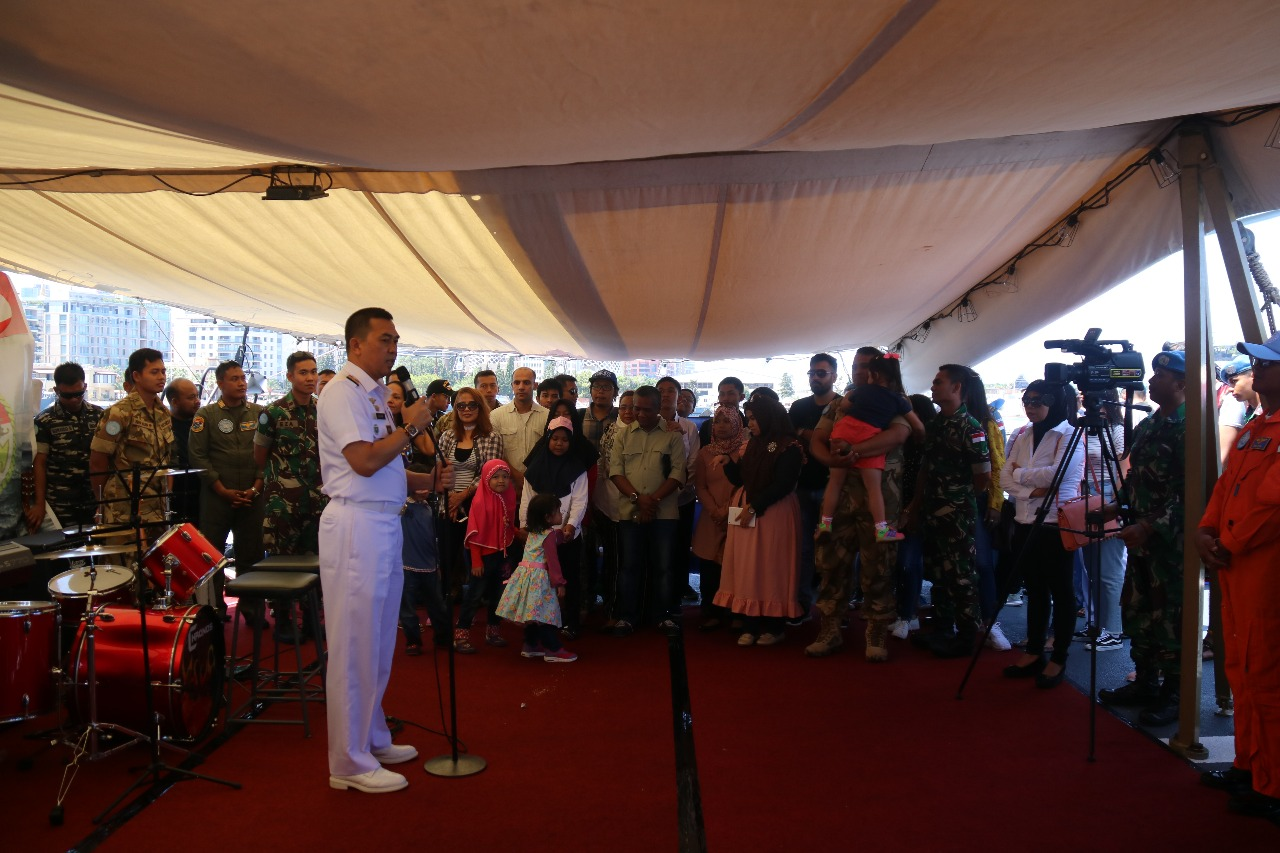 Satgas MTF TNI Selenggarakan O pen Ship Untuk WNI di Lebanon