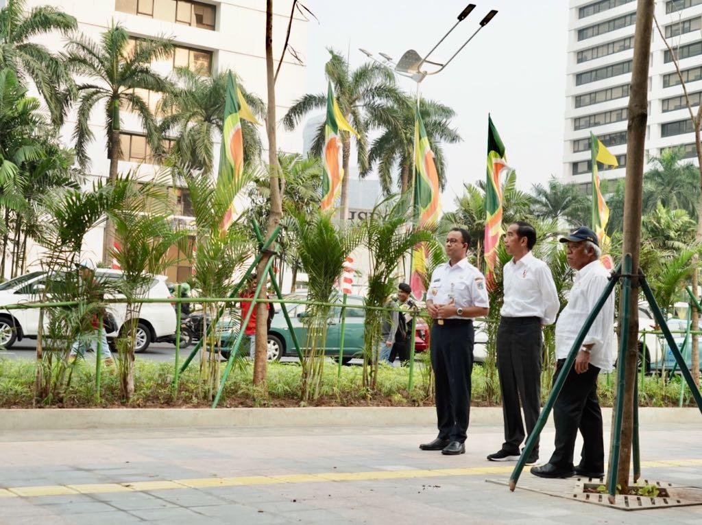 Jelang Asian Games, Presiden Tinjau Pedestrian Sudirman Hingga Bundaran HI