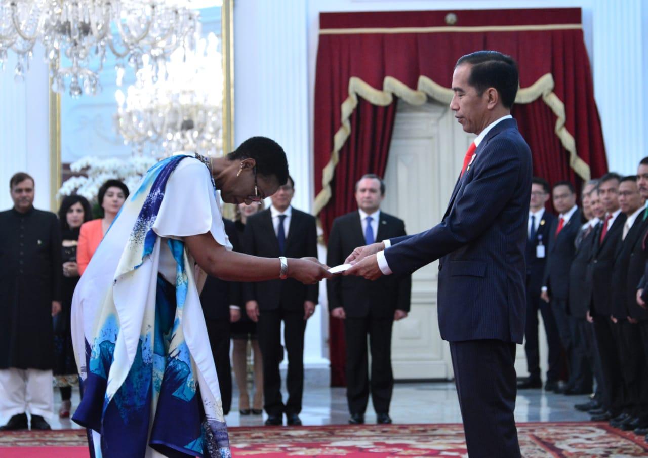 Presiden Jokowi Terima Surat Kepercayaan 8 Duta Besar Negara Sahabat
