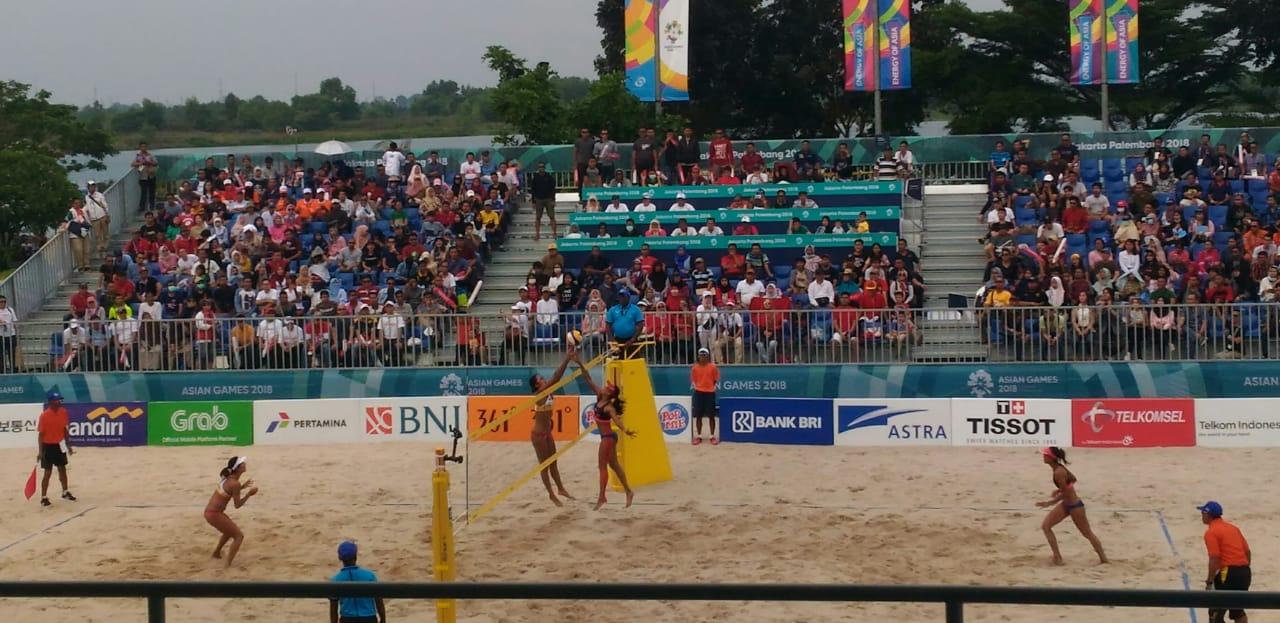 Tim Volly Pantai Putri Indonesia Melaju ke Semi Final Asian Games
