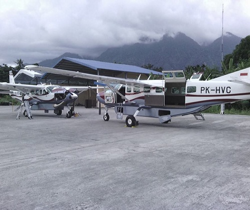 Pesawat Demonim Air Jenis Pac PK-HVC Jatuh di Papua