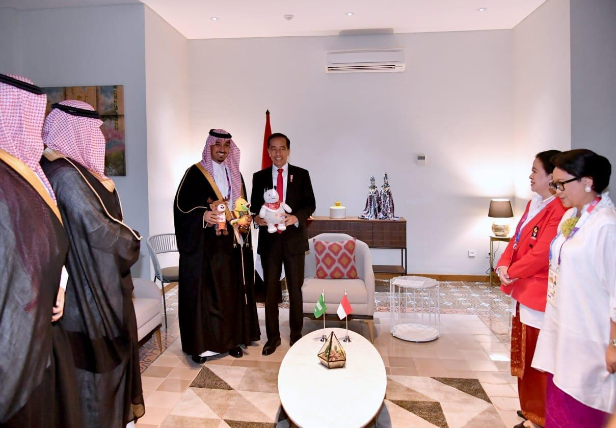 Presiden Jokowi Terima Pangeran Arab Saudi Jelang Pembukaan Asian Games