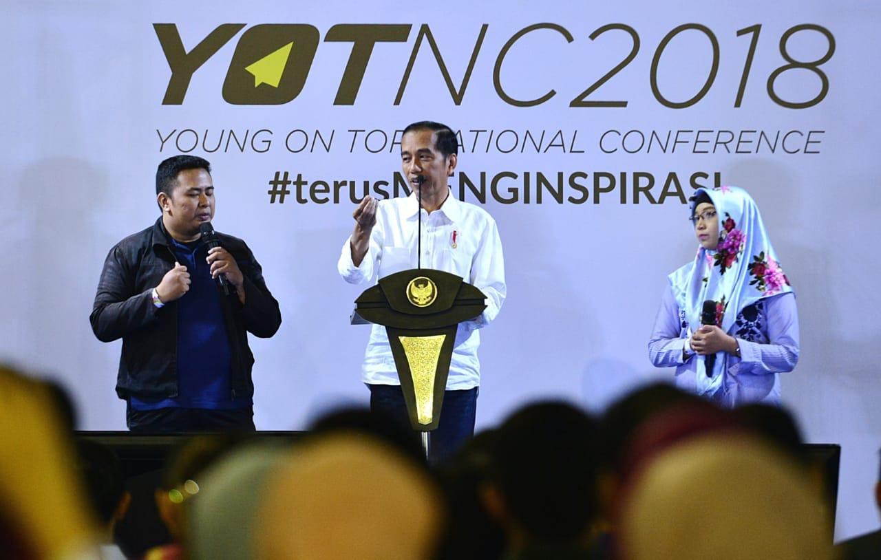 Presiden Yakin Anak Muda Indonesia Mampu Bersaing di Era Revolusi Industri 4.0