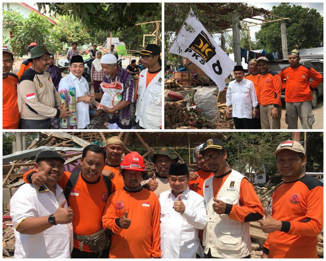 Fraksi PKS DPR Kembali Serahkan Bantuan Untuk Korban Gempa NTB