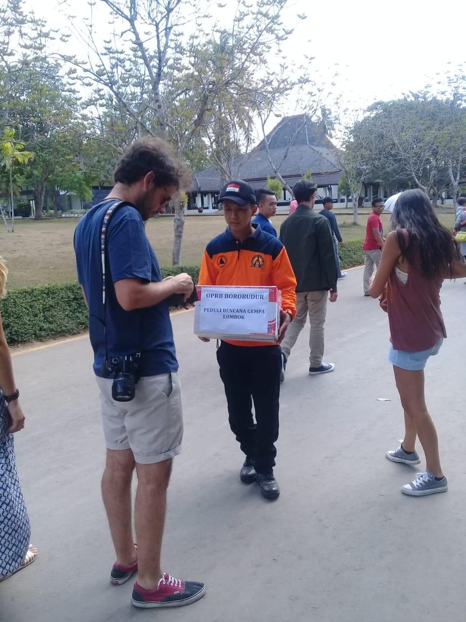 Peduli Lombok, OPRB Galang Dana di Taman Wisata Candi Borobudur