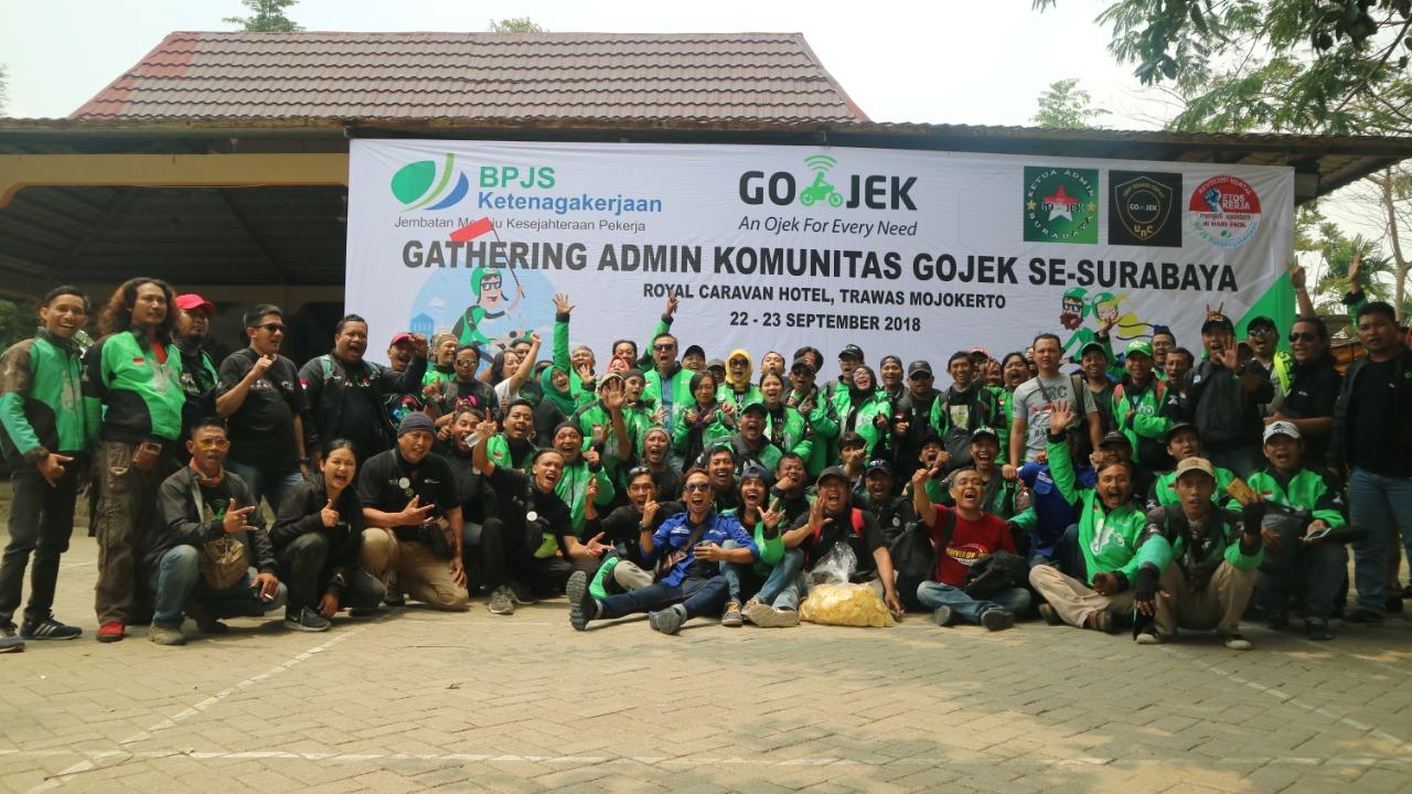 Jaga Kesolidan, BPJS Ketenagakerjaan Tanjung Perak Gelar Gathering Admin Komunitas Gojek