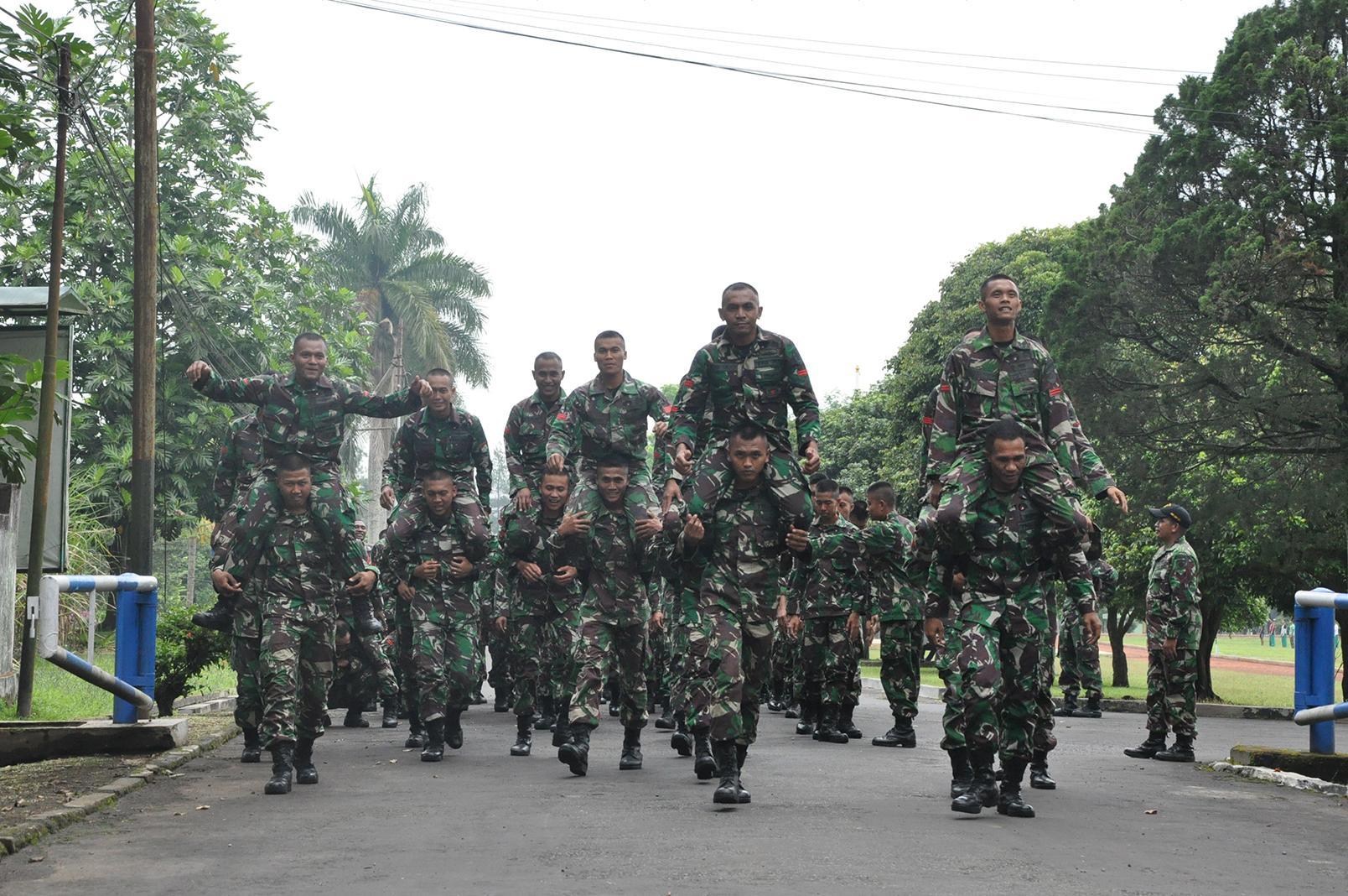 Prajurit Para Raider 502 Kostrad Latihan Ground Traning