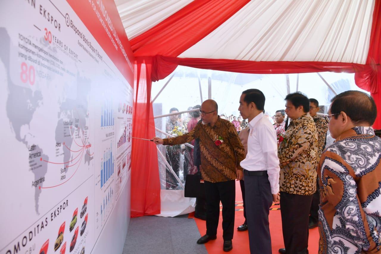 Lepas Ekspor Toyota Indonesia, Presiden Jokowi Dorong Industri Tingkatkan Ekspor dan Investasi