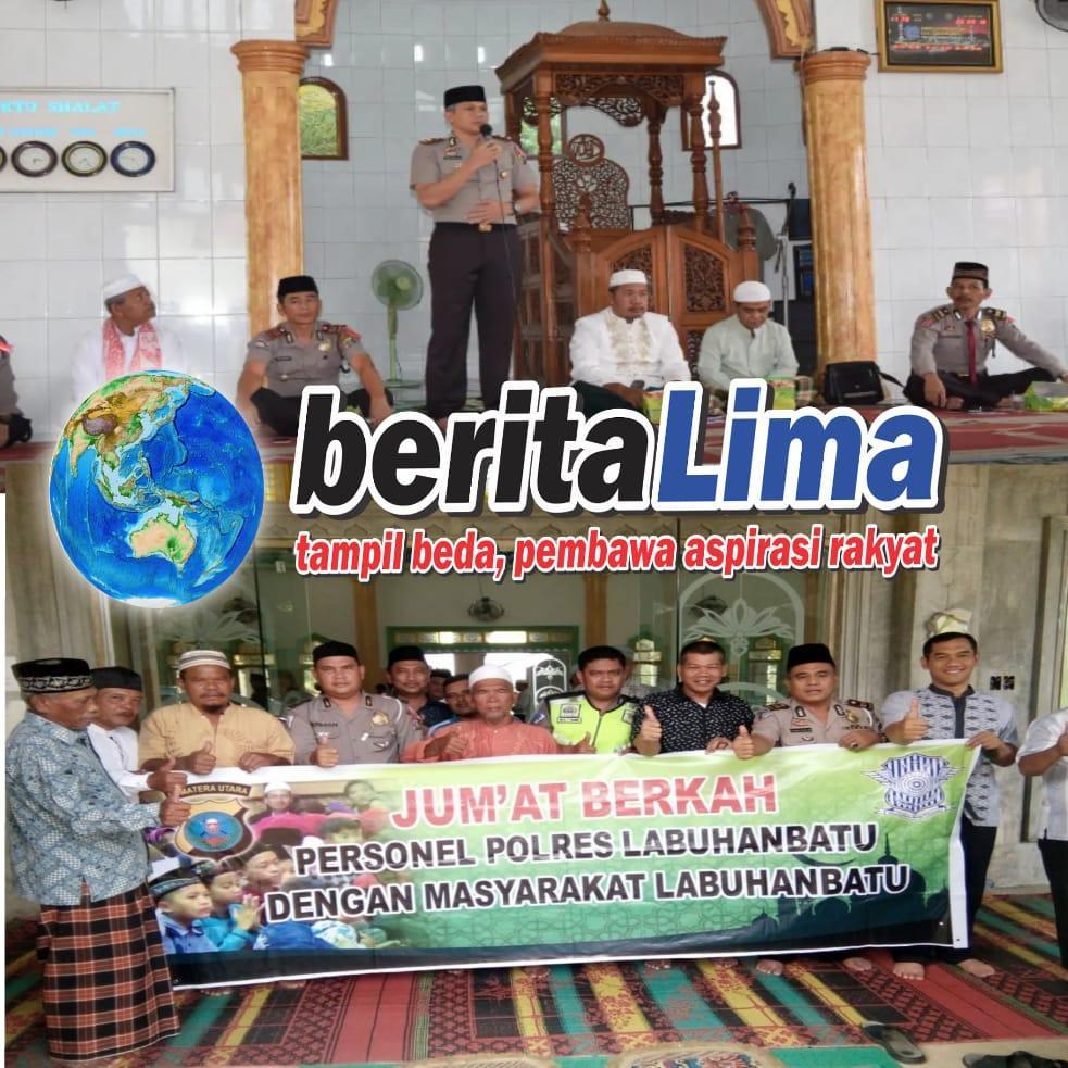 Giat Rutin Polsekta Kota Pinang, Bersilaturrahmi Ke Masjid Amaliah