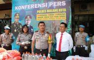 Polresta Malang Grebek Toko Pembuat Miras Oplosan